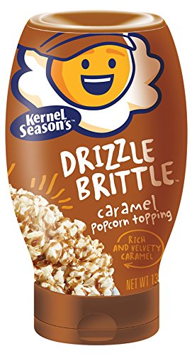 Caramel Apple Topping - Kernel Season's Drizzle Brittle Popcorn Topping, Caramel, 13.1 Ounce