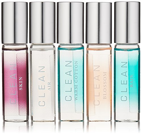 CLEAN Rollerball Layering Collection Fragrance, 0.17 Fl Oz, Set of 5