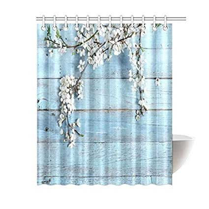 Image Unavailable Not Available For Color White Flower Shower Curtain