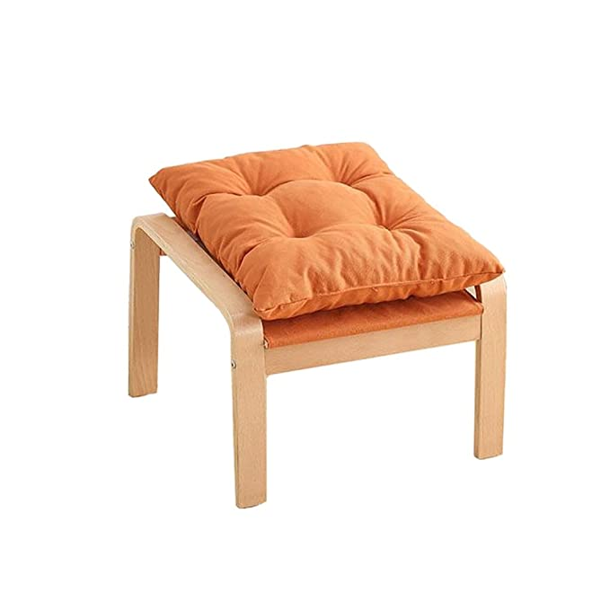 Amazon.com: Llx Solid Wood Footstool,Low Stools Small Square ...