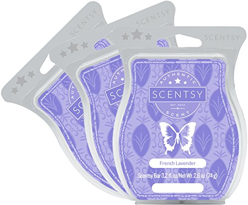 Scentsy, French Lavender, Wickless Candle Tart Warmer Wax 3.2 Oz Bar, 3-pack (3) from Scentsy Fragrance