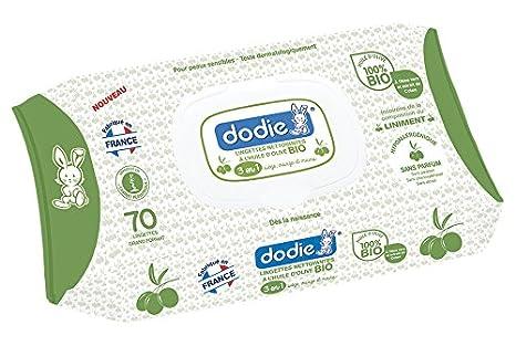 Dodie 2601700 - Toallitas limpiadoras con aceite de oliva bio: Amazon.es: Bebé