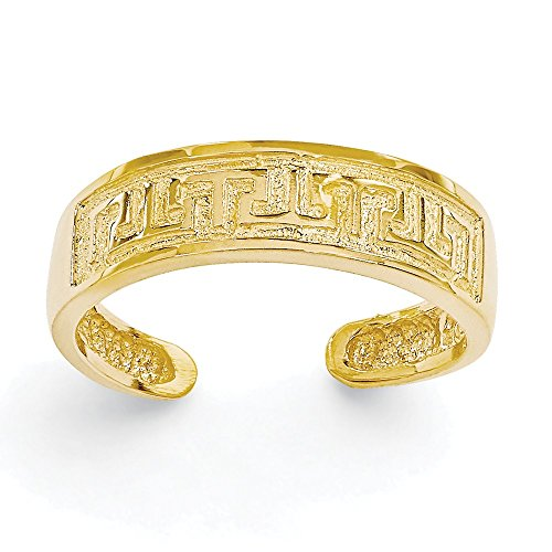Greek Key Toe Ring - 8