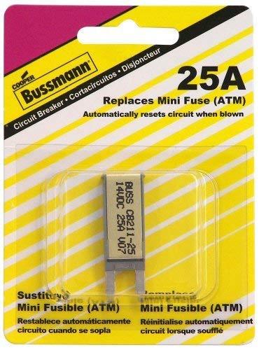 (Bussmann (BP/CB211-25-RP) 25 Amp Type-I ATM Mini Circuit Breaker)