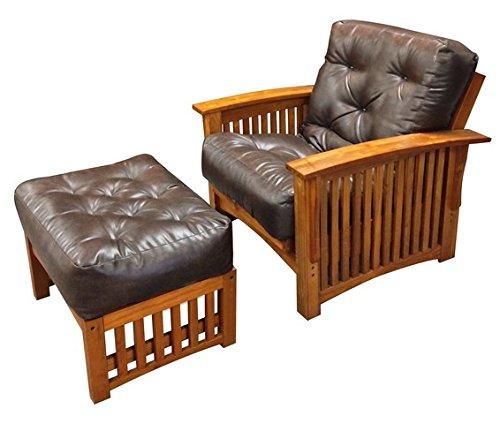 Gold Bond 061100-0101 Double Foam & Cotton Chair Ottoman Futon Mattress, Natural, 8'' H x 21'' W x 28'' L, Brown by Gold Bond