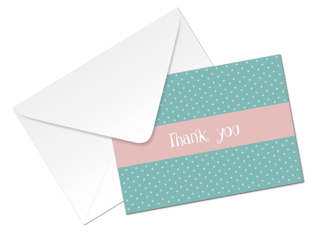 24 x A6 cards 4 colours to choose from Thank you cards flamingo design