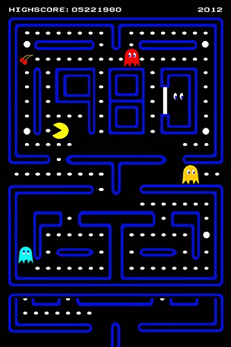 Pac Man Pacman Old Classic Retro Game Poster 24x36