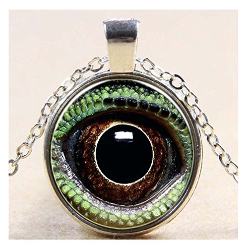 [Luck Wang Lady's Unique Evil Eye Pupil Cameo Glass Pendant Necklace(Sliver)] (Dark Skeleton Bride Child Costumes)