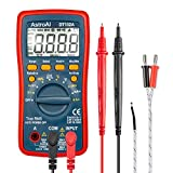AstroAI Digital Multimeter, TRMS 4000 Counts Volt Meter Manual and Auto Ranging; Measures Voltage Tester, Current, Resistance, Continuity, Frequency; Tests Diodes, Transistors, Temperature, Red