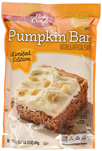 Spring Pumpkin - Betty Crocker Pumpkin Bar Mix 17.5oz Bag (Pack of 6)