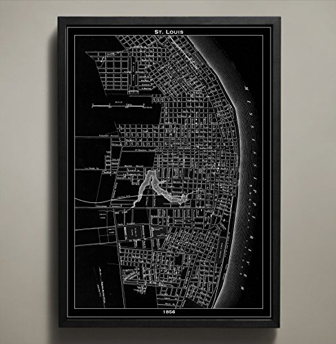 St. Louis Map Print, Home or office Decor