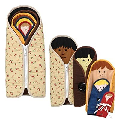 Constructive Playthings Multi-Ethnic Dressed to Nest Cloth Dolls for Kids, Set of 5: Industrial & Scientific