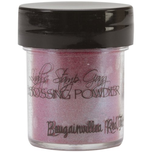 Lindy's Stamp Gang 2-Tone Embossing Powder, 0.5-Ounce Jar, Bougainvillea Red Teal