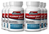 valerian root extract powder - Valerian Root Extract 4:1 125mg - Top Valerian Root for Deep Healthy Sleep and Relaxation (6 bottles 600 capsules)