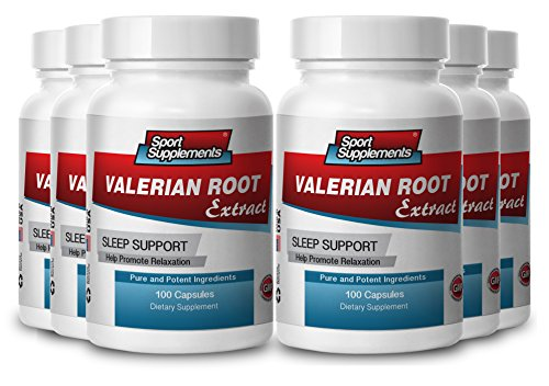 valerian root powder - Valerian Root Extract 4:1 125mg - Valerian Root Extract for Deep, Sound Sleep (6 bottles 600 capsules) by Sport Supplement