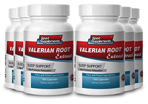 valerian root sleep aid - Valerian Root Extract 4:1 125mg - Enchance Mood and Improve Sleep with Herbal Valerian Root Extract (6 bottles 600 capsules) by Sport Supplement