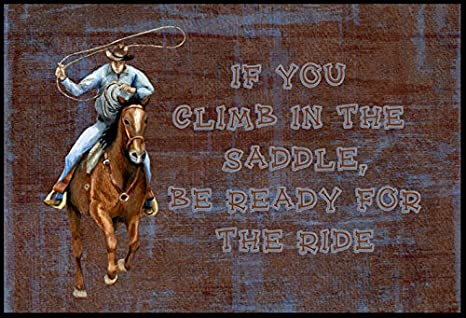3.25 by 5.5 be Ready for The Ride Sticky Note Holder Carolines Treasures Roper Horse If You Climb in The Saddle Multicolor