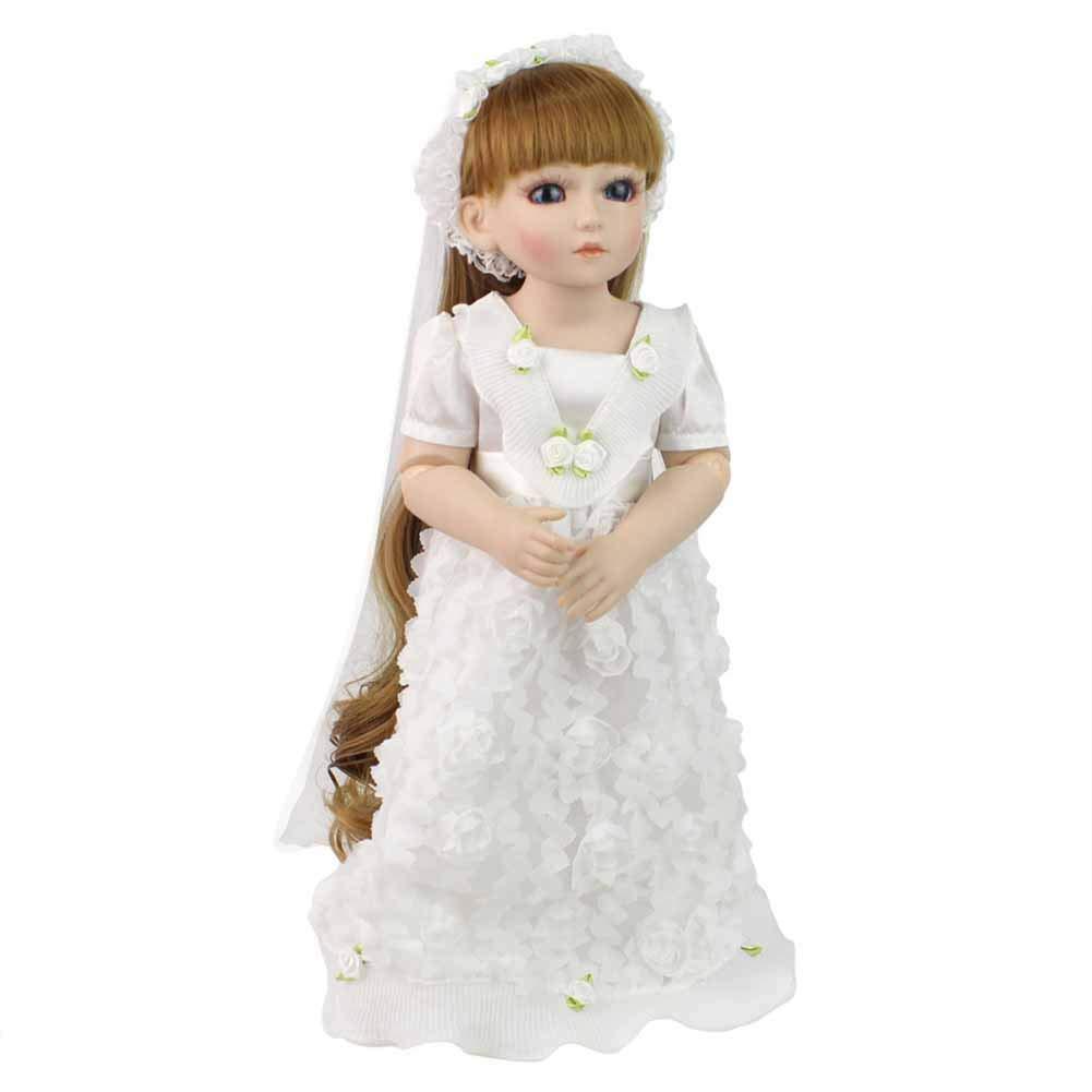 CHENG Baby Reborn Dolls Girls 18 Pollici Corpo Pieno Silicone Bambino rinato con Vestiti Bambola di Moda