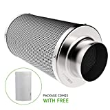 VIVOSUN 4 Inch Air Carbon Filter Odor Control with Australia Virgin Charcoal