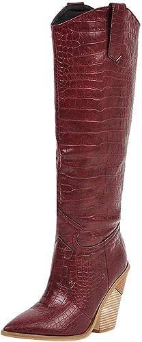 Stivali Donna Invernali Scarpe Vintage Stivali Lunghi Donna