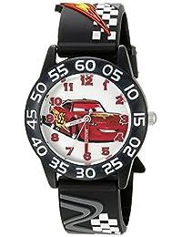 Disney Cars W002695 - Reloj analógico de cuarzo, para niños, color negro