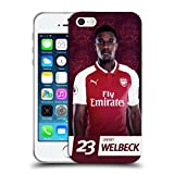 Official Arsenal FC Danny Welbeck 2017/18 First Team Group 1 Soft Gel Case for Apple iPhone 5 iPhone 5s iPhone SE