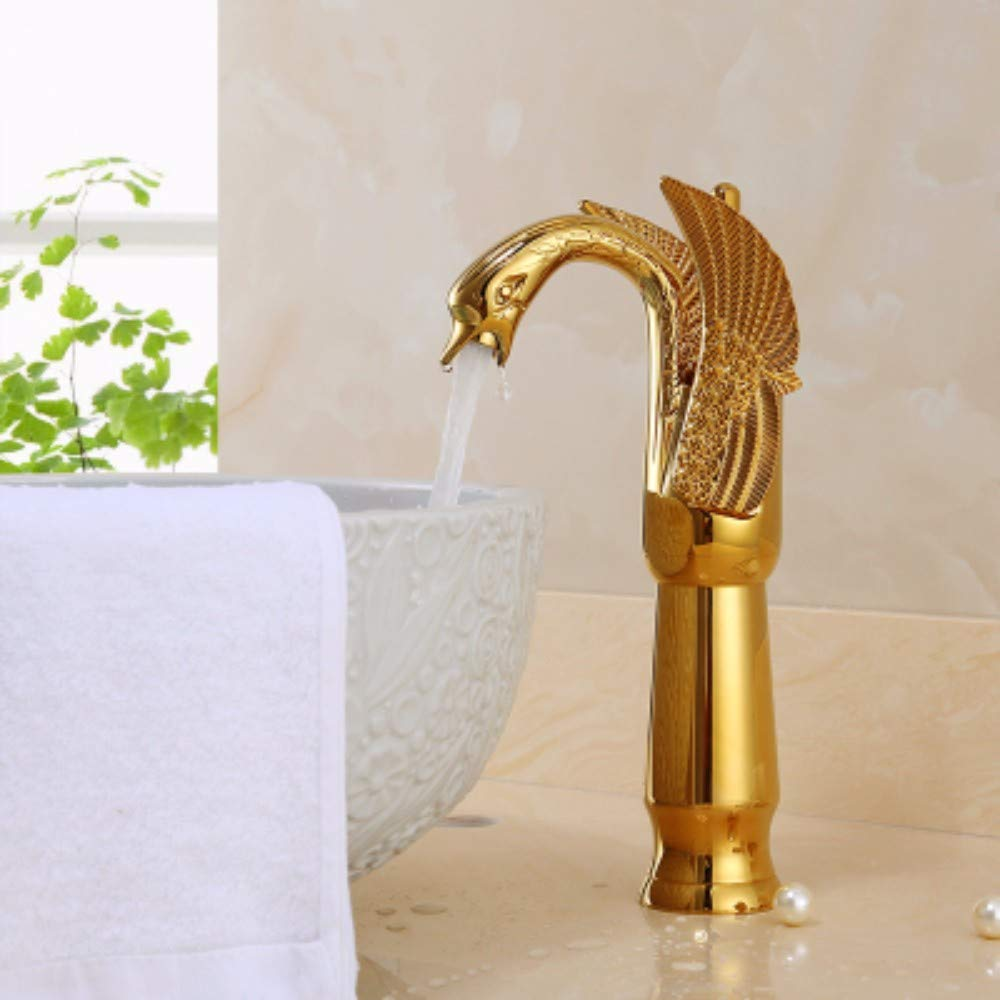 K XHSSF-Bathroom taps European Ancient Cold and Hot Ancient Full Copper Face Pot Faucet,A