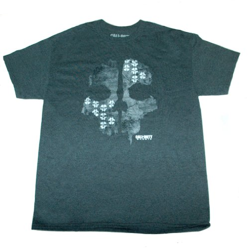 Call of Duty Ghosts - Skull Tee for Men - Size XL - Grey