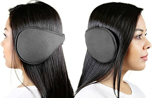 (GPCT 2 Pack Unisex Soft, Ultra Warm, Maximum Comfort, Behind The Head 180's Metro Ear Warmers EarMuffs. Excellent Accessory for Winter! Great for Dogs & Cats as Well! (Gray))