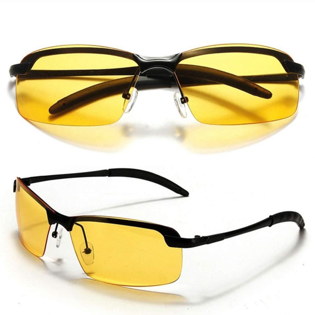 Xuba High-end Night Vision Polarized UV400 Safe Driving Glasses Aviator Goggles Golden Frame