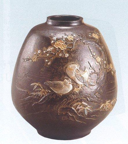 高岡銅器 花器 おしどり 日本製 B075N6X6C6