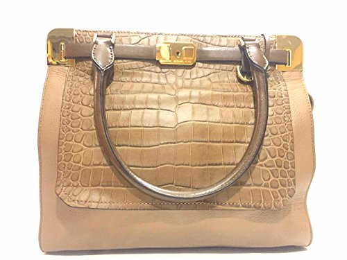 Michael Kors Blake Deer Skin Leather Ns Satchel Handbag Dessert