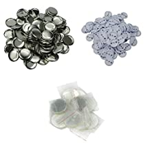 """DAWEI 100Pcs 1-3/4"""" 44mm Top/Bottom Cover Clip Pin Blank Badge & Button Parts for Badge Maker Machine 1001/1002/1003/1004"""