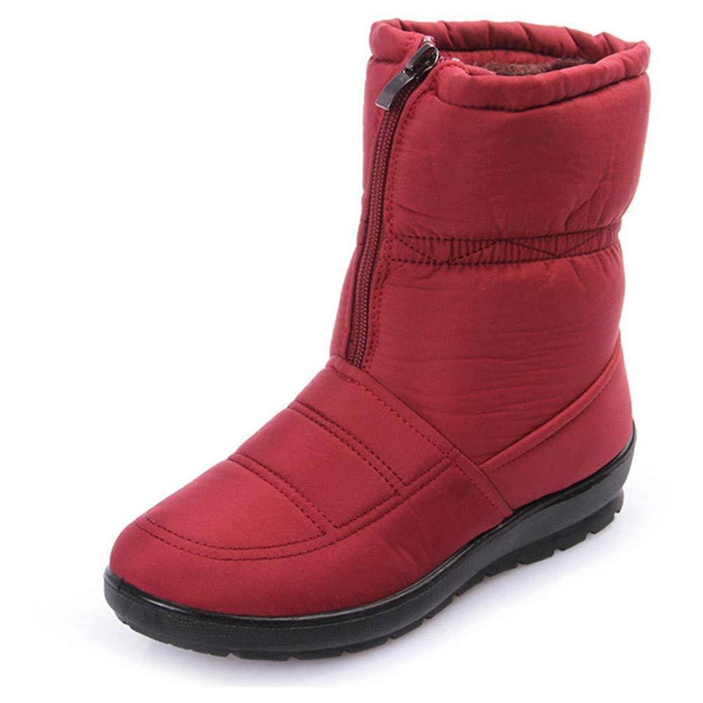 HhGold Frauen-Schnee-Stiefel-Winter-warme Starke untere Plattform-Wasserdichte Knöchel-Schuhe (Farbe   Rot, Größe   3.5=36 EU)  | Große Klassifizierung  | Zu einem niedrigeren Preis  | Ausgezeichnete Leistung