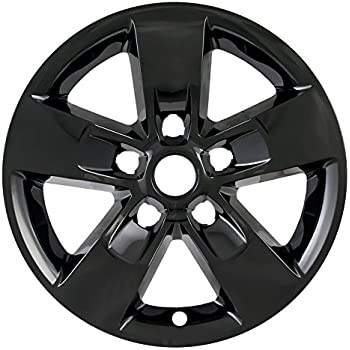 amazon 2013 2014 2015 dodge ram 1500 20 black wheel skins 2000 Dodge Ram Rust Panels gloss black 17 hub cap wheel skins for 2013 2018 ram 1500 set of 4