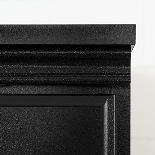 South Shore Tall 4-Door Storage Cabinet with Adjustable Shelves, Pure Black