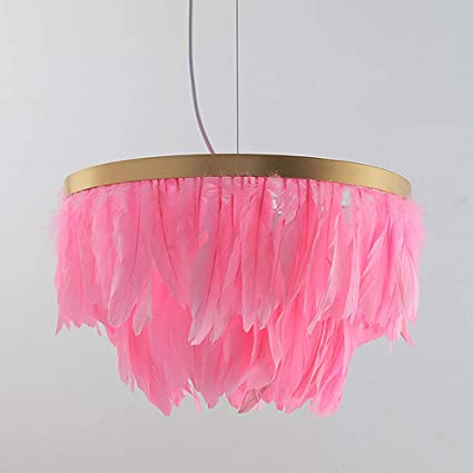 LED Bedroom Chandeliers, Nordic Gold Round Iron Gray/Pink ...