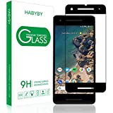 Google Pixel 2 Screen Protector, Habyby HD Tempered Glass Screen Protector Shield with Dot Matrix [ Shatterproof Design ][ Case Friendly ] for Google Pixel 2 [5 inch][1 PACK][Black]