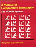 img - for MANUAL OF COMPARATIVE TYPOGRAPHY THE PANOSE SYSTEM. book / textbook / text book