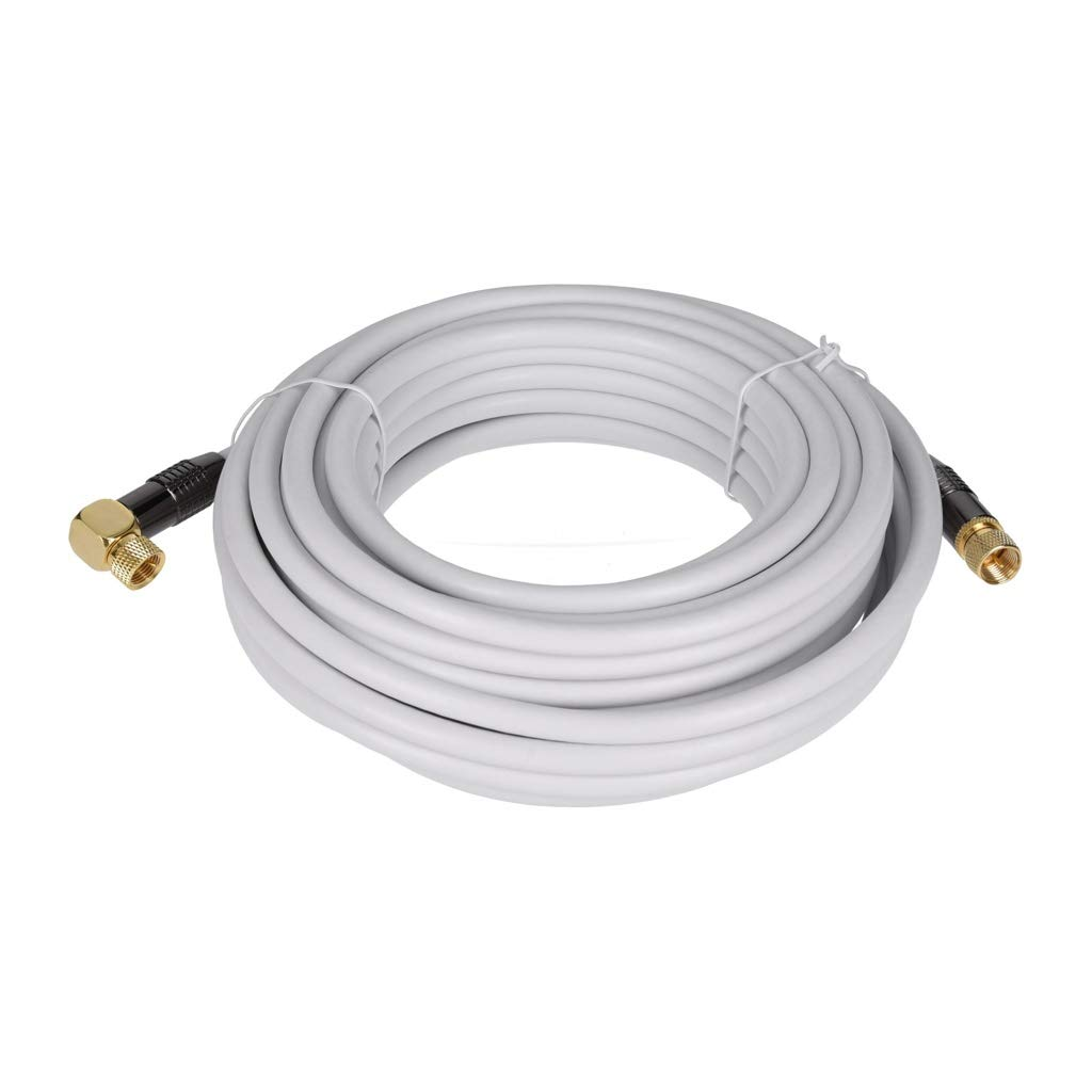 Georges Premium Cable de Antena//Sat de Cable de Antena/ /Recta Y 90//° /ángulo/ /Dorados en los Colores Blanco y Negro Sat-Antennenkabel Gerade 10m Blanco