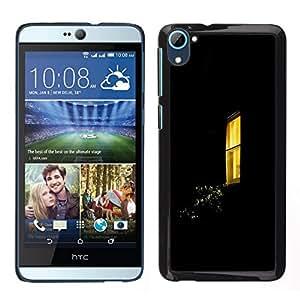All Phone Most Case / Lindo Foto Caso Duro Carcasa Estuche de protectora / Hard Case for HTC Desire D826 // Ventana Negro Amarillo Inicio