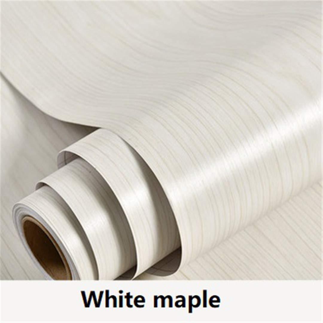 Vinyl Wood Grain Contact Paper for Kitchen Cabinets Shelf Liner Wardrobe Door Stickers Waterproof Self Adhesive Wallpaper White Maple 60cmX3m