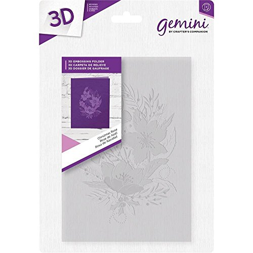 Crafter's Companion 5'' x 7'' 3D Card Embossing Folder - Christmas Rose by Gemini