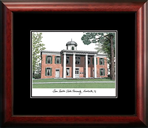 Houston Lithograph Framed (Campus Images TX988A Sam Houston Academic Framed Lithograph)