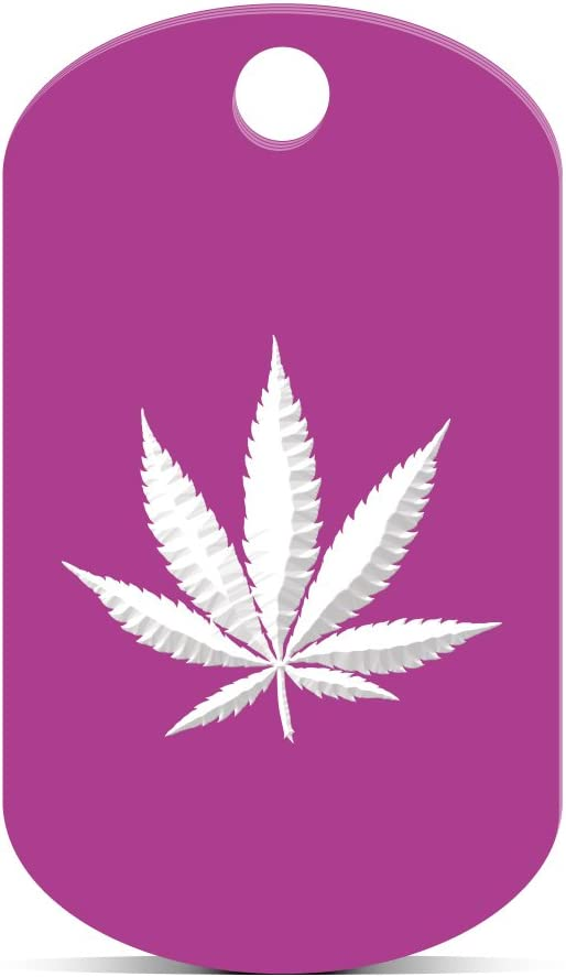 100 Pot Marijuana leaf Anodized ALuminum LASER