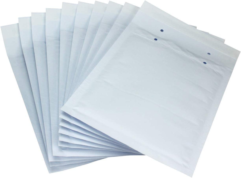 10 x Sobres Acolchados Hechos Por Net4Client - Bolsas De Burbujas Bolsas Blancas Postales Expedidores De Burbujas Embalaje Rápido & Fácil D14 Tamaño 200x275mm