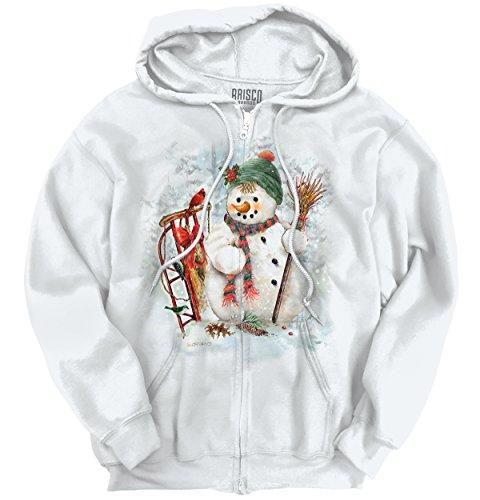 Snowman Pretty Fancy Holiday Snow Santa Claus Ugly Christ...