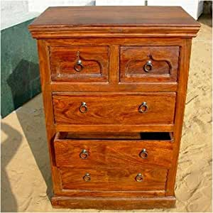 Amazon.com: Wood Storage 5 Drawers Dresser Chest Bedroom ...