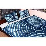 Bhagyoday Fashions - Tie Dye Duvet Cover Set - Shibori Indigo Blue Quilt Cover - Hippie Shibori Doona Cover - Comforter Indian Bedding Queen Size Cover