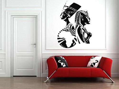 Wall Vinyl Sticker Decals Mural Room Design Pattern Art Bedroom Egypt Queens Empress Nefertiti Cleopatra bo2480 (Empress Bedroom)